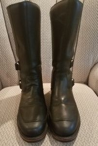 Black Leather Motorcyle Boots, Chippewa Size 12D